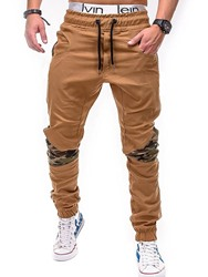 Ericdress Camouflage Patchwork Mens Straight Casual Pants фото