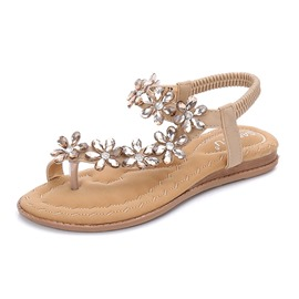 Ericdress Rhinestone Toe Ring Elastic Band Women's Sandals