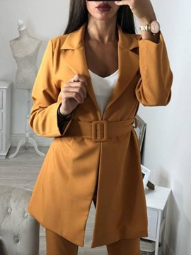 Ericdress Long Sleeve Lace-Up Notched Lapel Regular Fall Casual Blazer