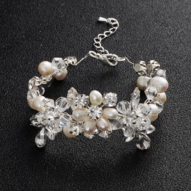 Ericdress Pearl Handmade Wedding Bracelet For Women