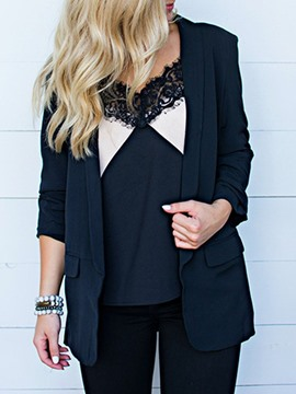 Ericdress Long Sleeve Plain Fall Mid-Length Casual Blazer