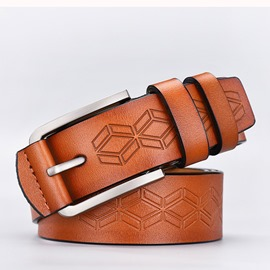 Ericdress Embossed Leather Pin Buckle Leather Belt