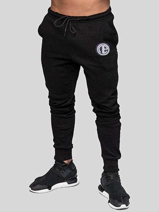 Ericdress Plain Lace Up Mens Casual Sports Pants