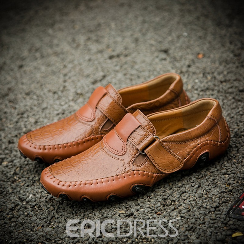 Ericdress Plain Velcro Round Toe Men's Casual Shoes
