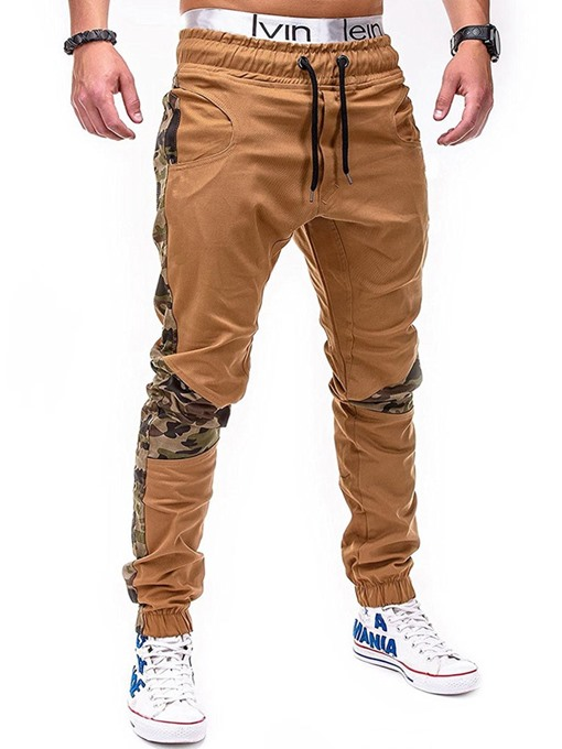Ericdress Camouflage Patchwork Mens Straight Casual Pants