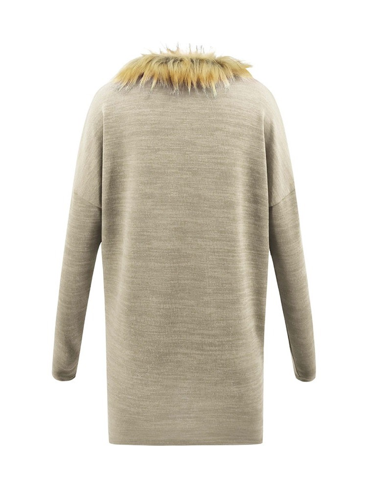 Ericdress Regular V-Neck Single Sweater