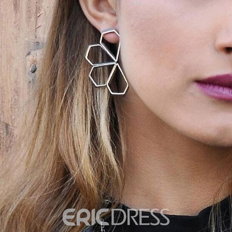 Ericdress Hollow Out Flower Earrings