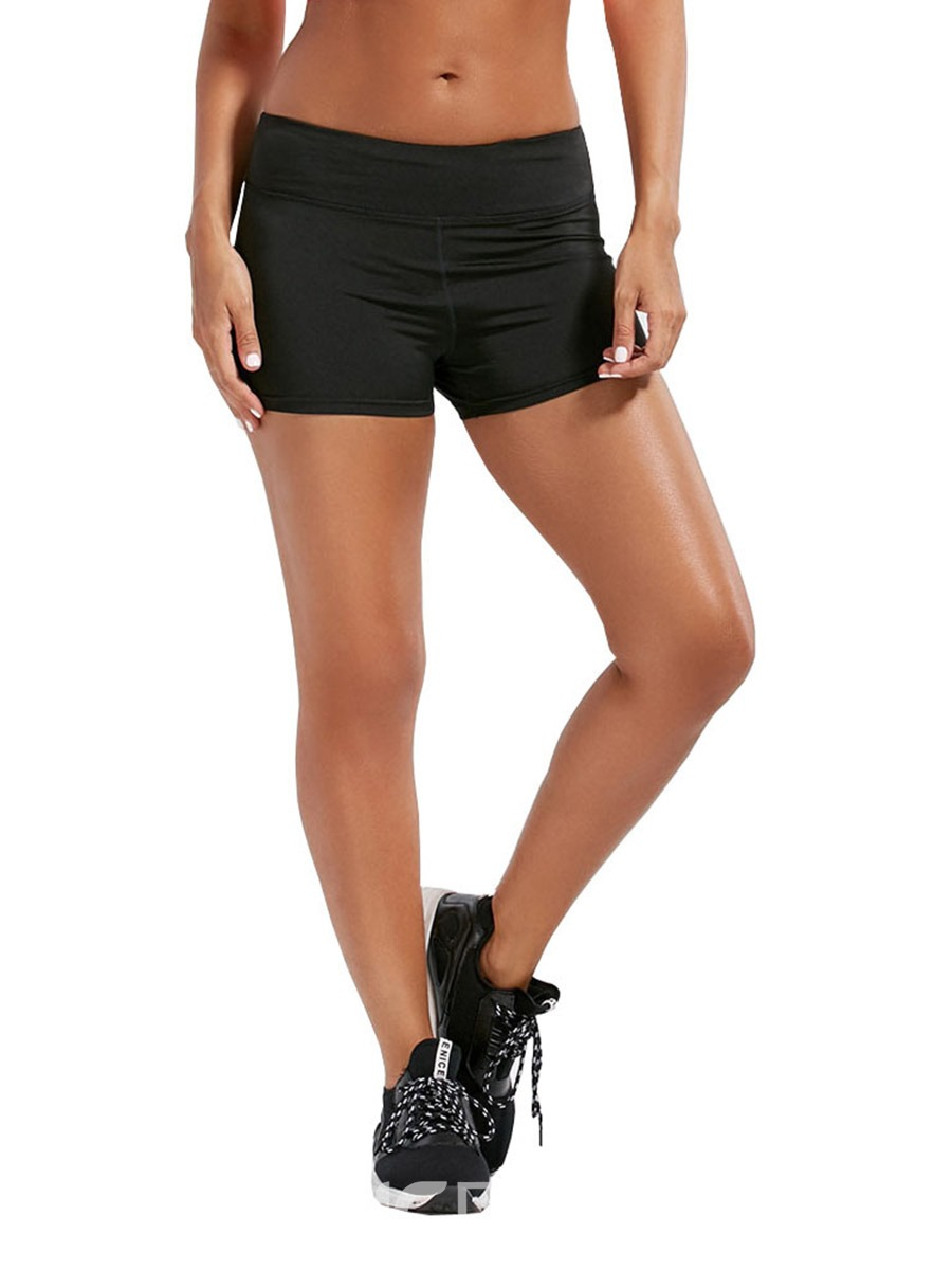 Ericdress Solid Push Up Gym Sport Summer Shorts