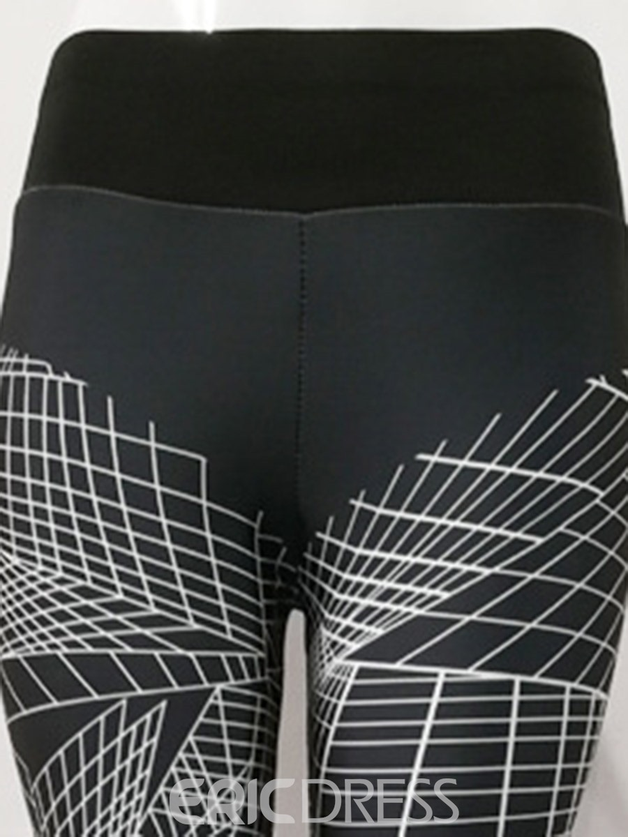 Ericdress Breathable Geometric Push Up Gym Sport Leggings