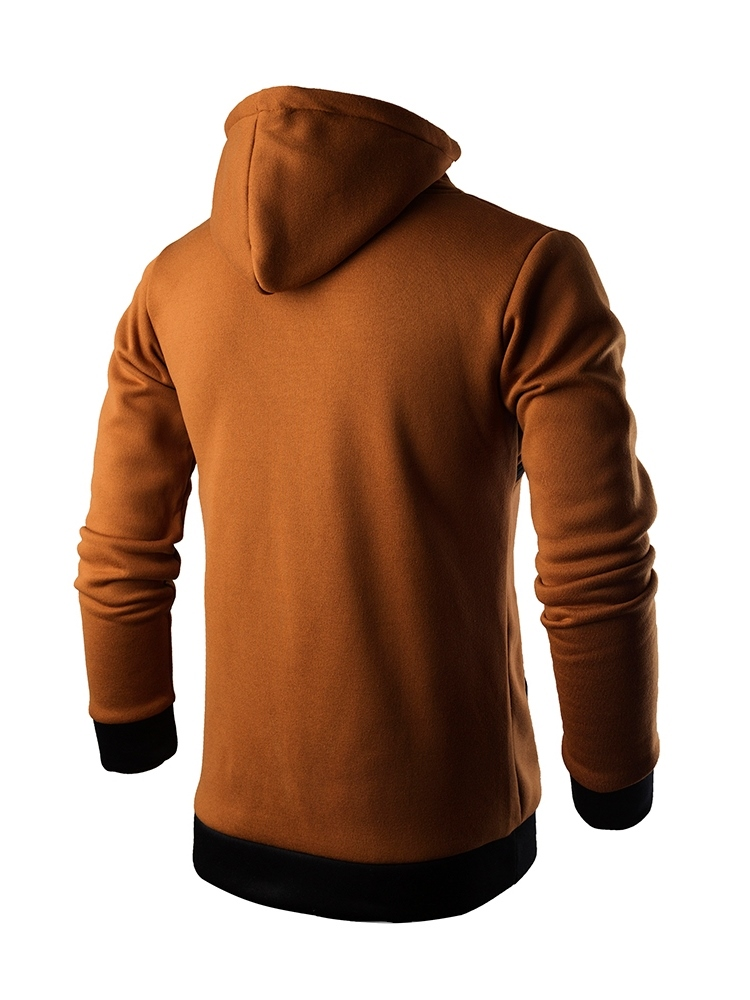 Ericdress Patchwork Color Block Hooded Mens Casual Pullover Hoodies