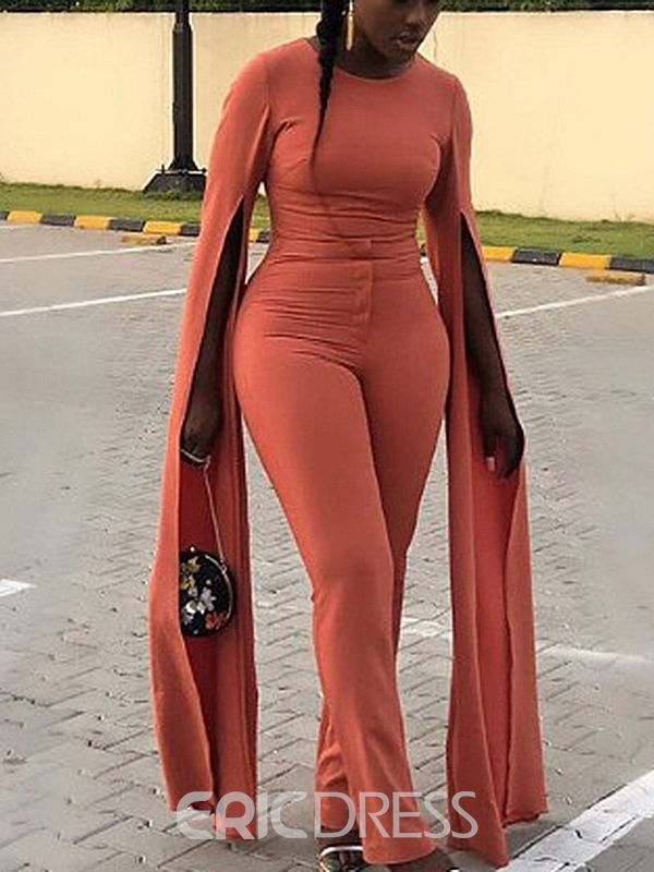 Ericdress Plain Casual Full Length Skinny Stretchy Jumpsuit