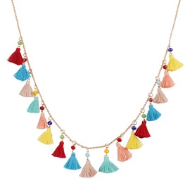 Ericdress Vintage Colour Tassel Pendant Necklace