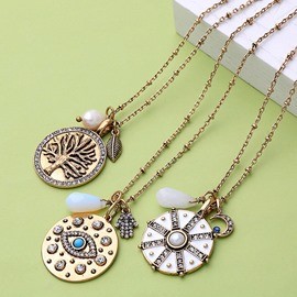 Ericdress Bohemian Style Round Plate Necklace