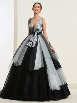 Ericdress Bowknot Ball Gown Quinceanera Dress