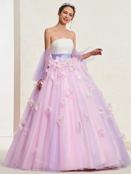 Ericdress Long Sleeves Flowers Ball Quinceanera Dress 2019