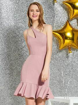 Ericdress Mermaid Knee-Length One Shoulder Homecoming Dress