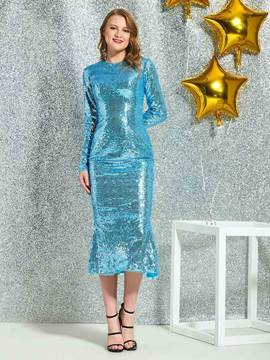 Ericdress Sheath Sequins Tea-Length Cocktail Dress
