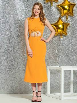 Ericdress Sheath Tea-Length Homecoming Dress