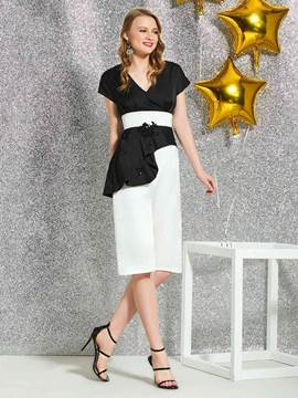 Ericdress Knee-Length Short Sleeves Cocktail Dress