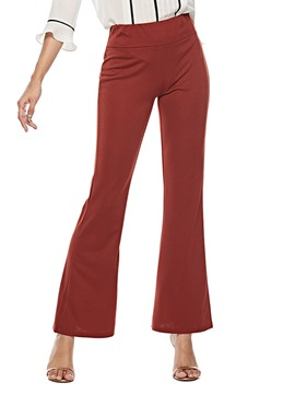 Ericdress Plain Loose High-Waist Casual Bellbottoms