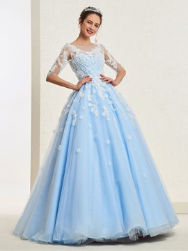 Ericdress Appliques Ball Gown Quinceanera Dress