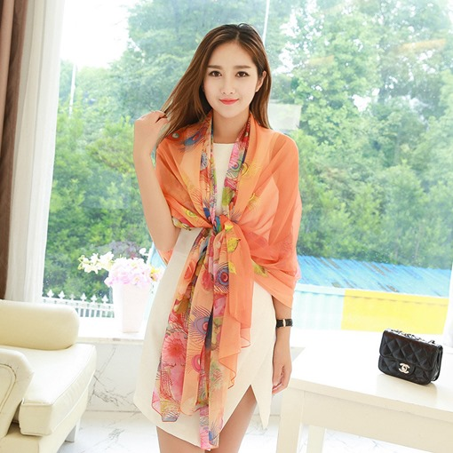 Ericdress Polyester Ladylike Floral Scarf
