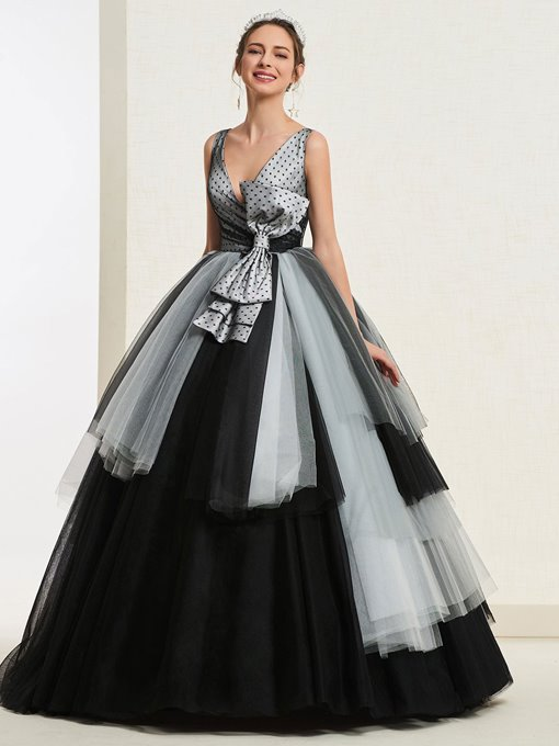 Ericdress Bowknot Ball Gown Quinceanera Dress 2019