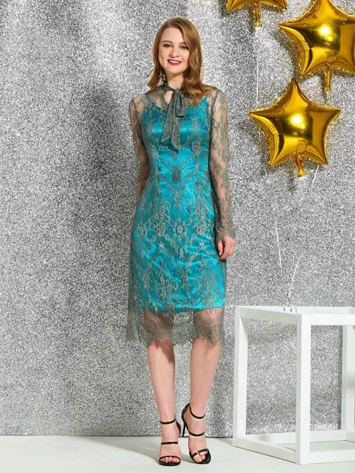 Ericdress Long Sleeves Lace Cocktail Dress