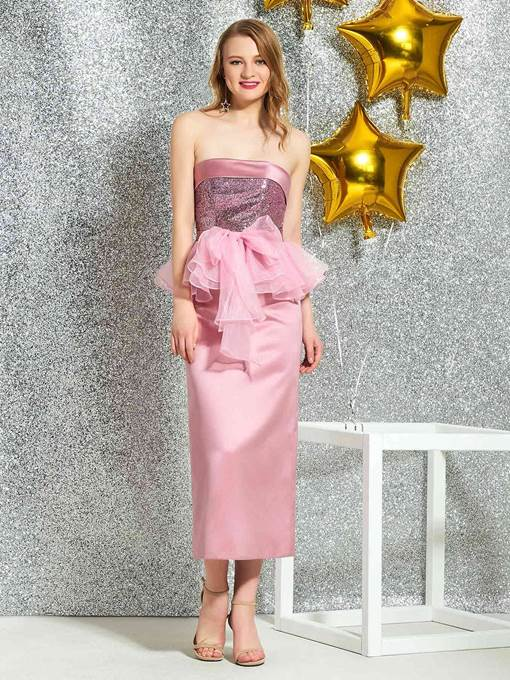 Ericdress Ankle-Length Sequins Sheath Cocktail Dress