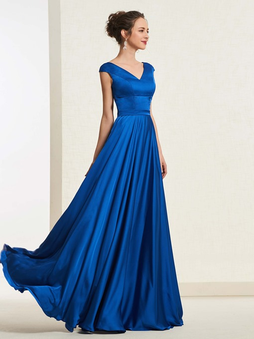 Ericdress Cap Sleeves V-Neck A-Line Prom Dress