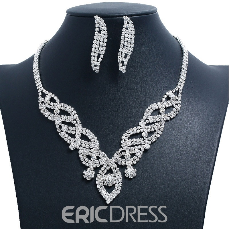 Ericdress Floral Luxury Diamante Jewelry Set