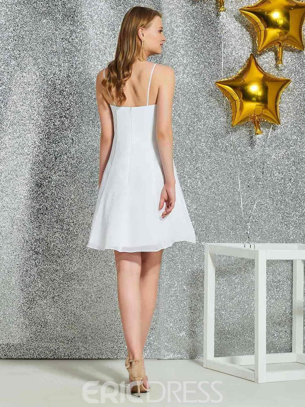 Ericdress Lace Spaghetti Straps Short Homecoming Dress