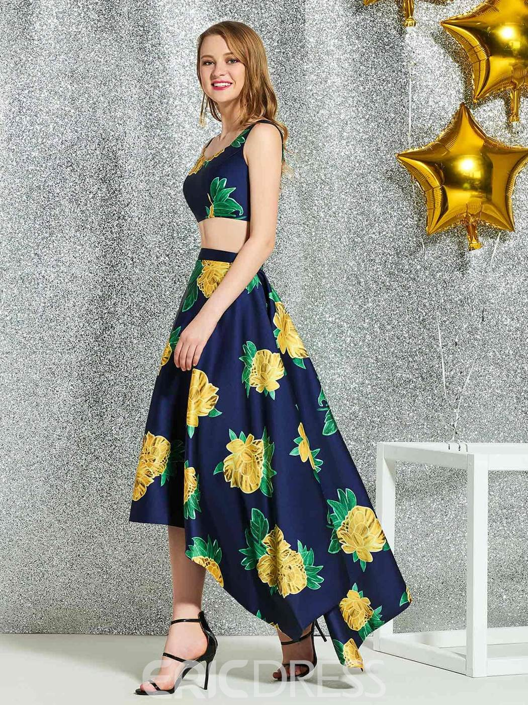 Ericdress Straps Sheath Knee-Length Homecoming Dress 2019