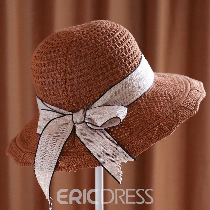 Ericdress Bucket Lace Cotton Plain Fall Hat