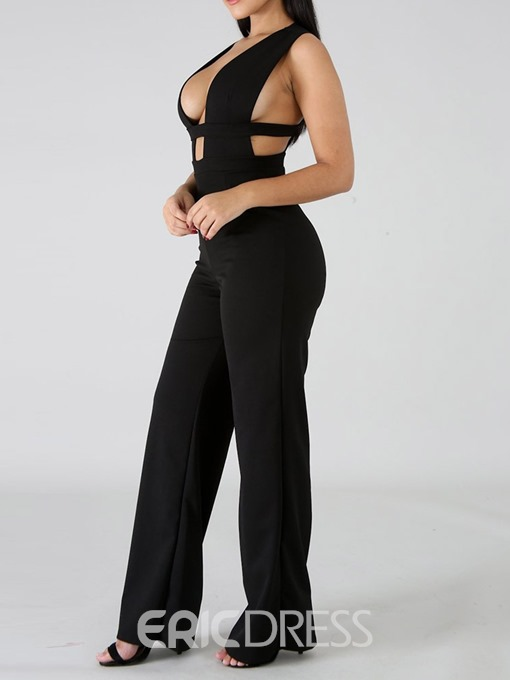 Ericdress Sexy Plain Skinny Jumpsuit