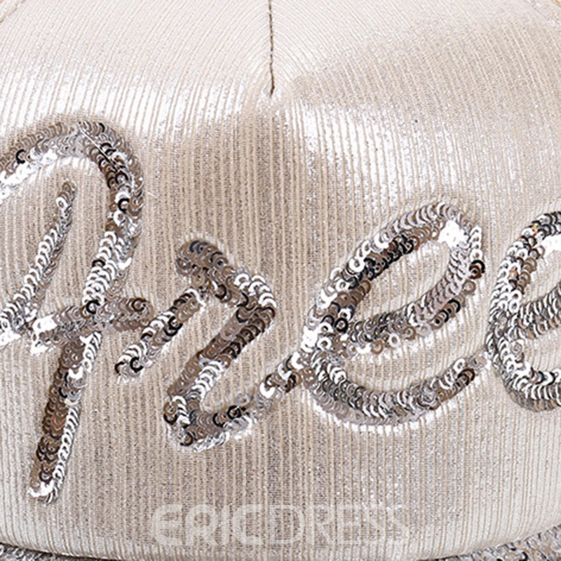 Ericdress Cotton Sequins Letter Hat