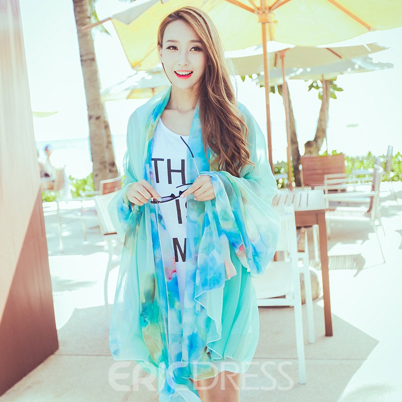 Ericdress Summer Print Floral Scarf