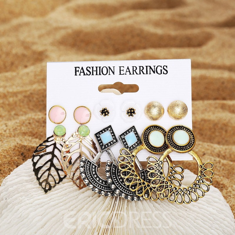 Ericdress Bohemian Hollow Out Alloy Party Earrings