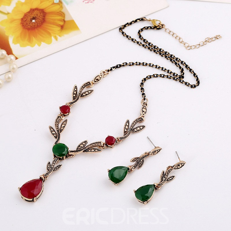 Ericdress E-Plating Leaf Jewelry Set