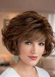 Ericdress Deluxe Layered Curly Lace Front Synthetic Hair Wigs 10 Inches