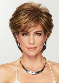 Ericdress Short Blonde Color Curly Layered Synthetic Hair Lace Front Wigs 8 Inches