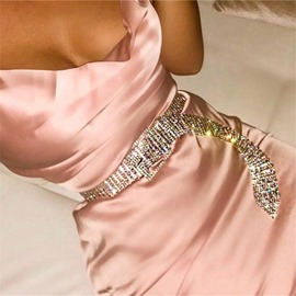 Ericdress Pin Buckle Fashion Diamante Belt