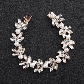 Ericdress Floral Diamante Bracelet For Women