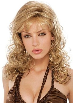 Ericdress Long Length Loose Deep Wave Side Swept With Bangs Synthetic Hair Capless Wigs 24 Inches
