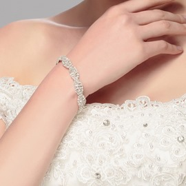 Ericdress Diamante Twist Shape Bracelet