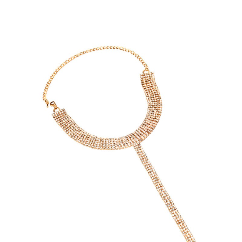 Ericdress Y Plain Diamante Female Necklace