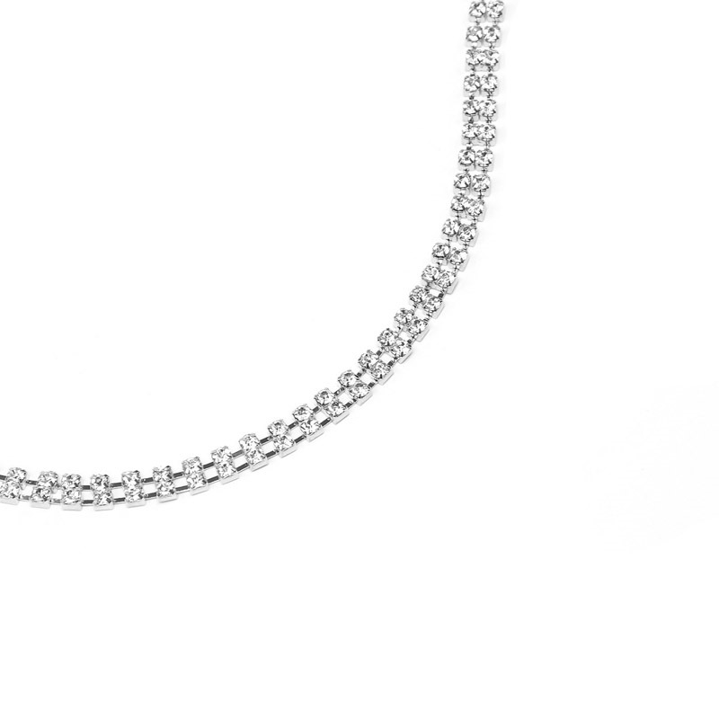 Ericdress Plain Diamante Bra Body Chain Necklace