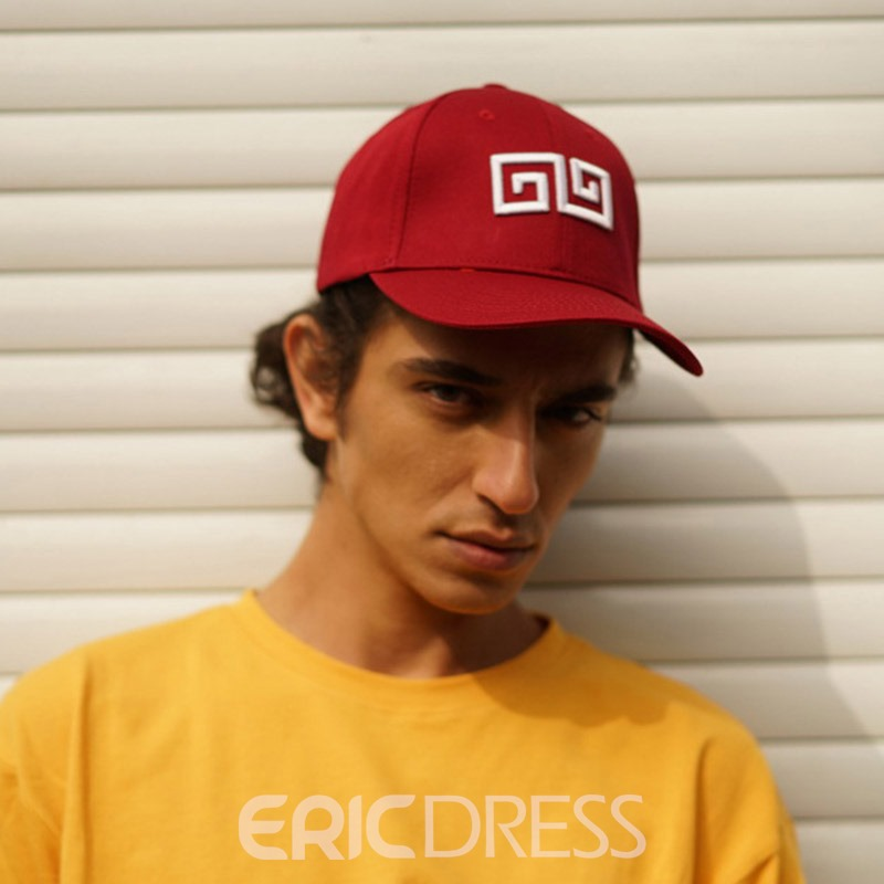 Ericdress Embroidery Fall Geometric Hat For Men
