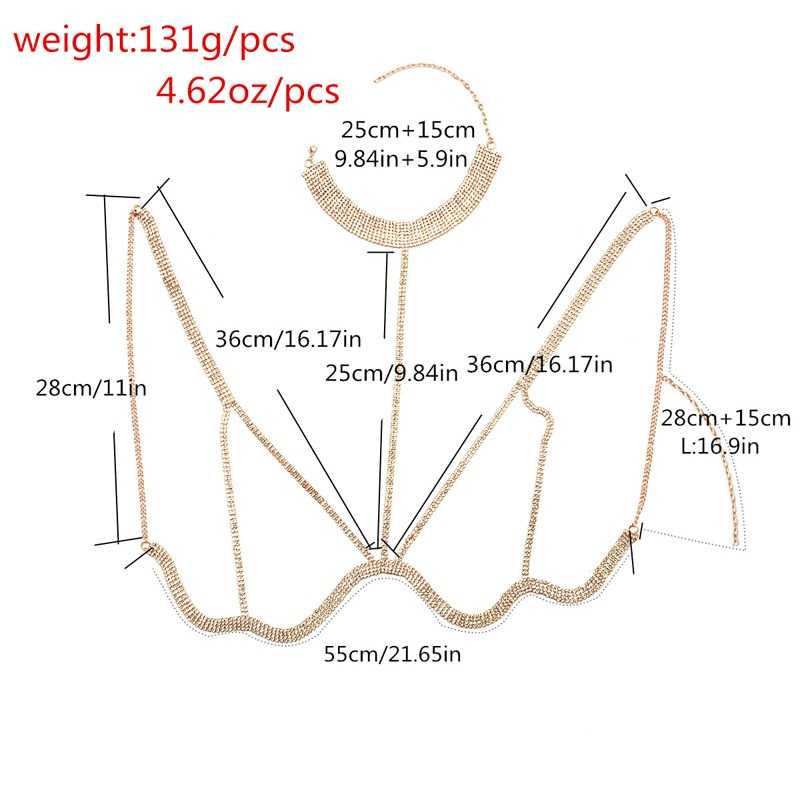 Ericdress Plain Body Chain Shining Necklace