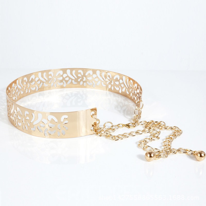 Ericdress Chain Hollow Out Fashion Metal Belt